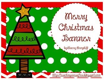 Merry Christmas Banner {FREEBIE}
