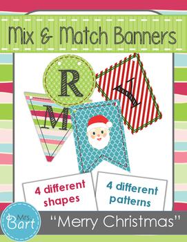 Merry Christmas Banner- Mix & Match