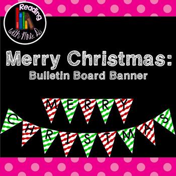 Merry Christmas Bulletin Board Banner Pennant Bunting