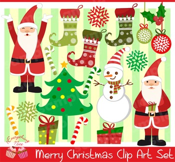 Merry Christmas Clipart Set