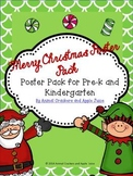 Merry Christmas Poster Pack for Pre-k and Kindergarten