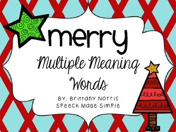 Merry Multiple Meaning Words