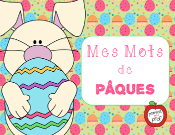Mes mots pour Pâques (My Words for Easter) - French Vocabu