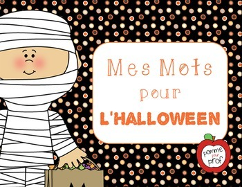 Mes mots pour l'Halloween (My Words for Halloween) - Frenc