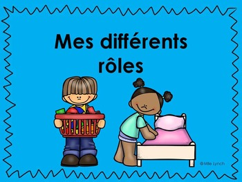 Mes rôles/ My roles PowerPoint/Slides Grade 1 Social Studies