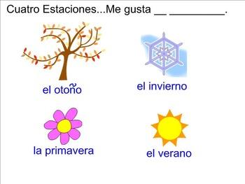 Meses, Numeros, Estaciones Interactive Lesson