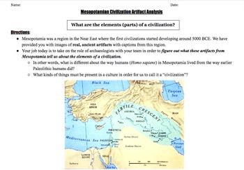 Mesopotamia Artifact Analysis - 5 Elements of a Civilization