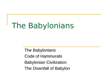 Mesopotamia: Babylonians
