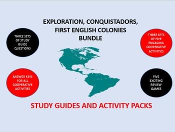 Exploration, Conquistadors,  English Colonies Bundle: Stud