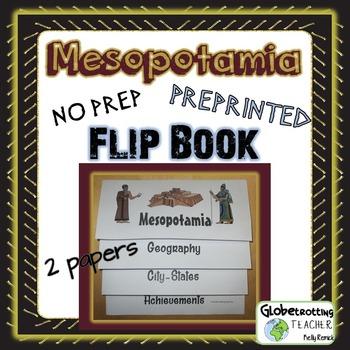 Mesopotamia Flip Book Pre-printed (Foldable)