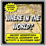 Mesopotamia Where in the World Scavanger Hunt & Map Activi