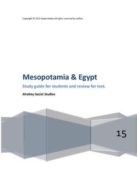 Mesopotamia and Egypt Study Guide