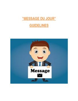 Message du Jour  - Guidelines