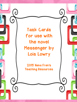 Messenger Novel Study Task Cards