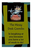 Messy Desk Gremlin Cards