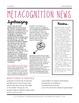Metacognition (Comprehension) Newsletter for Parents