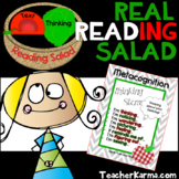 Metacognition Real Reading Salad Comprehension Strategy Ac
