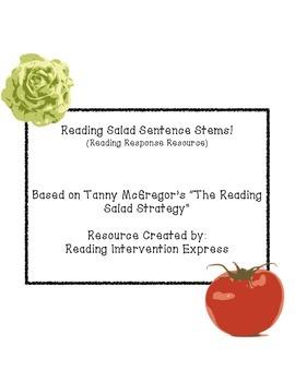 "Metacognitive ""Reading Salad"" Sentence Stems"