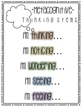 Metacognitive Thinking Stems Poster