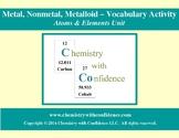 Metal, Nonmetal, Metalloid Vocabulary Activity