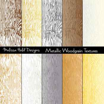 Woodgrain Textures: Metallic