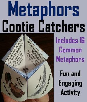 Metaphors Activity/ Figurative Language Foldable Quiz 3rd,