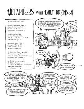 Emily Dickinson Explains Metaphors: Poetry Comics: Activit