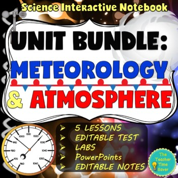 Meteorology and Atmosphere Unit Bundle (5 Lessons, Present