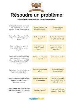 Méthode pour résoudre un problème 4 - Repérer les éléments