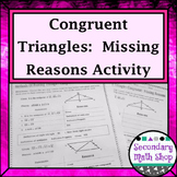 Congruent Triangles - Proving Triangles Congruent Missing