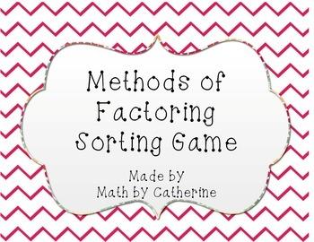 Methods of Factoring Sorting Game