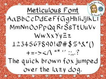Meticulous Font {True Type Font for personal and commercial use}