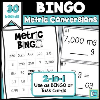 Metric BINGO and Task Cards