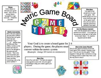 Metric Board Game