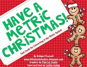 Metric Christmas - Metric System Task Cards