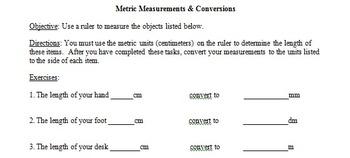 Metric Conversions Lesson