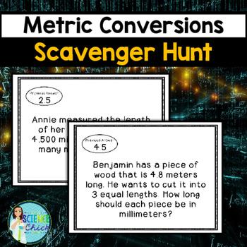 Metric Conversions Scavenger Hunt