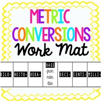 Metric Conversions Work Mat