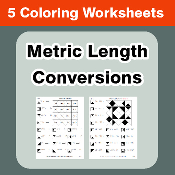 Metric Length Conversions - Coloring Worksheets