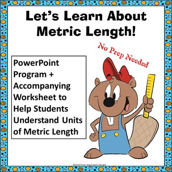 Metric Length Measurement PowerPoint Lesson + Worksheet Co