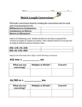 Metric Length Unit Conversions