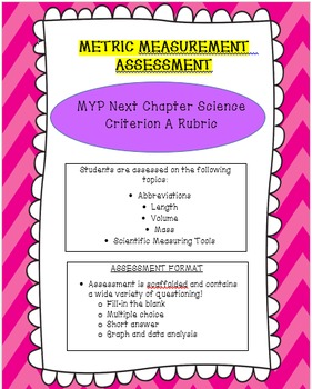 Metric Measurement Assessment with optional Next Chapter M