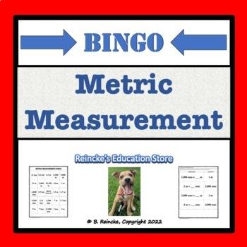 Metric Measurement Bingo (30 pre-made cards!)