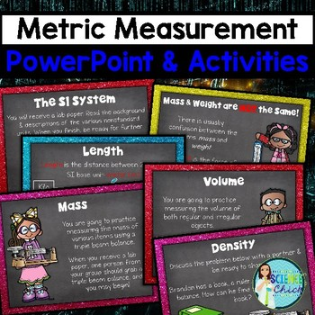 Measurement PowerPoint - Mass, Volume, Density, Metric Con