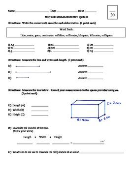 Quick Metric Measurement Quiz