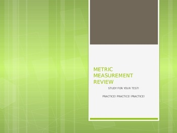 Metric Measurement Review Questions