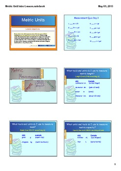 Metric Measurement Smart Board Lesson CCSS 4.MD.1