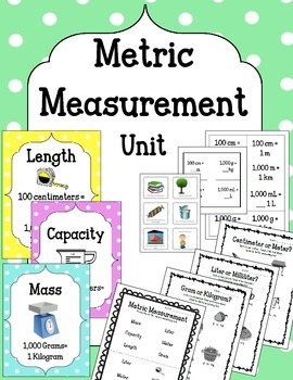 Metric Measurement Unit. Sorting. Flip Flap Book. Flashcar