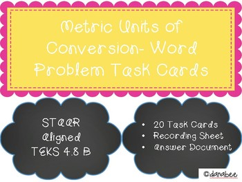 Metric Units of Conversion Task Cards