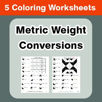 Metric Weight Conversions - Coloring Worksheets